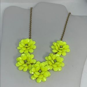 J. Crew yellow flower statement necklace
